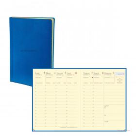 Agenda QUOVADIS CARLA Prestige Toscana bleu nautic - 8x10,5cm - 1 semaine sur 2 pages