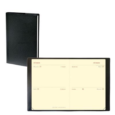 Agenda QUOVADIS MINI 2 DAYS Impala noir  - 7x10cm - 1 jour par page