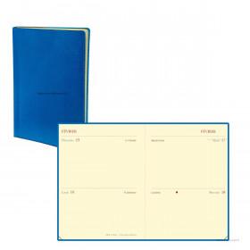 Agenda QUOVADIS MINI 2 DAYS Toscana bleu nautic - 7x10cm - 1 jour par page