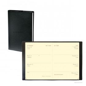 Agenda QUOVADIS MINIWEEK Impala noir - 7x10cm - 1 semaine sur 2 pages