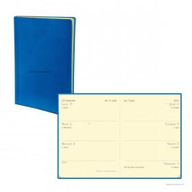 Agenda QUOVADIS MINIWEEK Toscana bleu nautic - 7x10cm - 1 semaine sur 2 pages