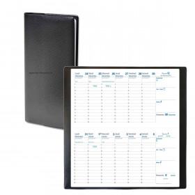 Agenda QUOVADIS Bi-Planning® 8,8 x 17 cm - 12 mois Plastique noir