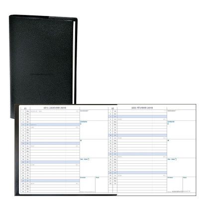 Agenda QUOVADIS Minibest- 7.5 x 14 cm - 1 mois sur 2 pages en accordéon (janvier à décembre)
