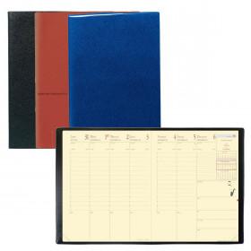 Agenda Président «Prestige» QUOVADIS 21 x 27 cm - 1 semaine sur 2 pages (COLORIS ALEATOIRES)