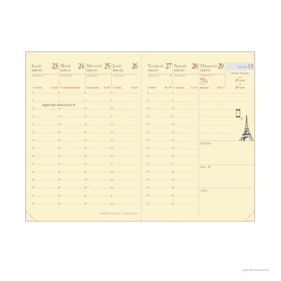 Recharge pour agenda QUOVADIS RANDONNEE Prestige format 9x12,5cm