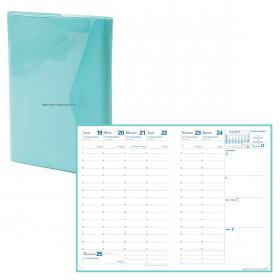 Agenda QUOVADIS AFFAIRES Clover Jade - 10x15cm - 1 semaine sur 2 pages Verticale