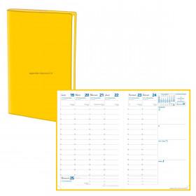 Agenda QUOVADIS AFFAIRES Fidji jaune - 10x15cm - 1 semaine sur 2 pages Verticale