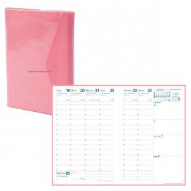 Agenda QUOVADIS AFFAIRES Clover Rose - 10x15cm - 1 semaine sur 2 pages Verticale