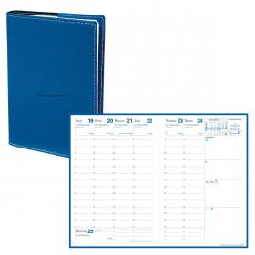Agenda QUOVADIS AFFAIRES Club Bleu Roi - 10x15cm - 1 semaine sur 2 pages Verticale