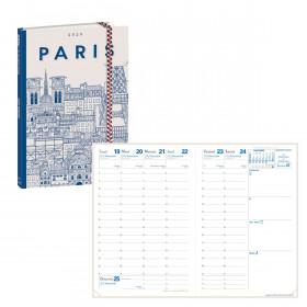 Agenda QUOVADIS AFFAIRES Dr Paper Paris - 10x15cm - 1 semaine sur 2 pages Verticale