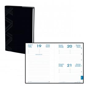 Agenda QUOVADIS EUROTEXTAGENDA Touch - Noir - 12x17cm - 1 jour par page