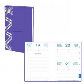 Agenda QUOVADIS EUROTEXTAGENDA Touch - Violet - 12x17cm - 1 jour par page