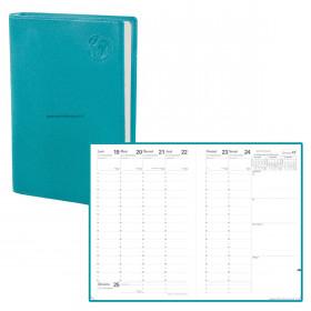 Agenda QUOVADIS MINISTRE Equology bleu lagon - 16x24cm - 1 semaine sur 2 pages Verticale