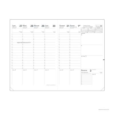 Recharge pour agenda QUOVADIS PLANNING SD format 18x24cm