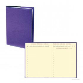 Agenda QUOVADIS MINIDAY ML Club violet iris - 7x10cm - 1 jour par page