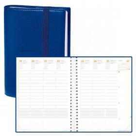 Agenda QUOVADIS TIME & LIFE XL Large Bleu perse - 21x27cm - 1 semaine sur 2 pages Verticale