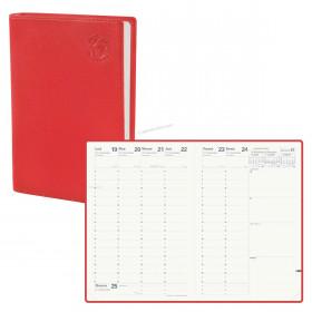 Agenda QUOVADIS MINISTRE Recyclé rouge cerise - 16x24cm - 1 semaine sur 2 pages