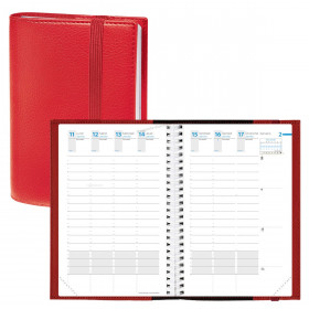 Agenda QUOVADIS TIME&LIFE XLARGE Time & Life - Rouge Cerise - 21x27cm - 1 semaine sur 2 pages