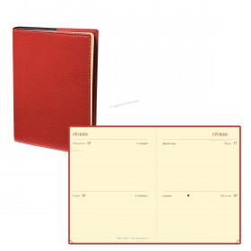 Agenda QUOVADIS MINI 2 DAYS - 7x10cm - 2 jours par page couverture CLUB ROUGE CERISE