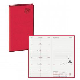 Agenda QUOVADIS ITALNOTE Recyclé rouge cerise - 8,8x17cm - 1 semaine sur 1 page + NOTES