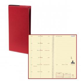 Agenda QUOVADIS ITALNOTE S à spirale - Club rouge cerise - 8,8x17cm - 1 semaine sur 1 page + NOTES + répertoire