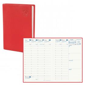 Agenda QUOVADIS AFFAIRES Recyclé rouge cerise - 10x15cm - 1 semaine sur 2 pages