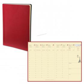 Agenda QUOVADIS RANDONNEE PREST - 9x12,5cm - 1 semaine sur 2 pages couverture TOSCANA ROUGE COQUELICOT