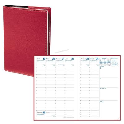 Agenda QUOVADIS Affaires® - 10 x 15 cm 13 1/2 mois (mi-novembre à décembre) - 1 semaine sur 2 pages Club Rouge