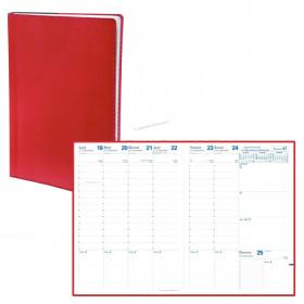 Agenda QUOVADIS CONSUL Toscana coquelicot - 21x29,7cm - 1 semaine sur 2 pages