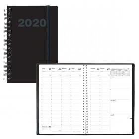 Agenda QUOVADIS PRESIDENT Spiralé Oslo - Noir - 21x27cm - 1 semaine sur 2 pages