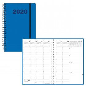 Agenda QUOVADIS PRESIDENT Spiralé Oslo - Bleu - 21x27cm - 1 semaine sur 2 pages