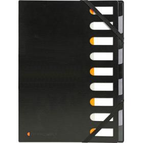 Trieur 12 compartiments 24x32cm EXACOMPTA polypropylène NOIR