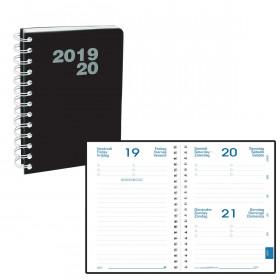Agenda QUOVADIS EUROTEXTAGENDA Oslo Noir - 12x17cm - 1 semaine sur 2 pages Verticale