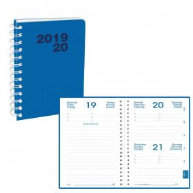 Agenda QUOVADIS EUROTEXTAGENDA Oslo Bleu - 12x17cm - 1 semaine sur 2 pages Verticale