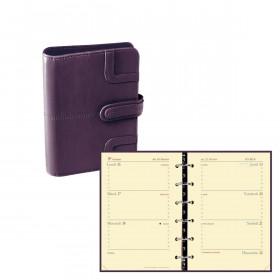 Agenda organiseur QUOVADIS - TIMER 14 horizontal - 8x12,5cm couverture Capri Violet