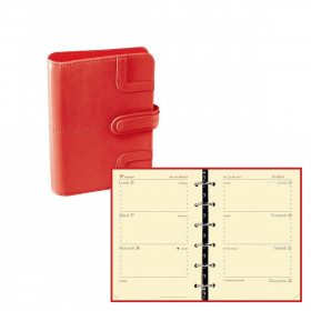 Agenda organiseur QUOVADIS - TIMER 14 horizontal - 8x12,5cm couverture Capri Corail
