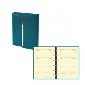 Agenda QUOVADIS TIMER 14 HORIZONTAL VENEZIA - 8x12cm - JADE - 1 semaine sur 2 pages horizontal