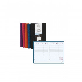 Agenda EXACOMPTA SAS 13 Winner 9x13cm - 1 semaine sur 2 pages (COLORIS ALEATOIRES)