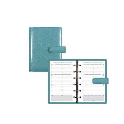 Organiseur EXACOMPTA Exatime 14 SAD Eden turquoise 10x14cm