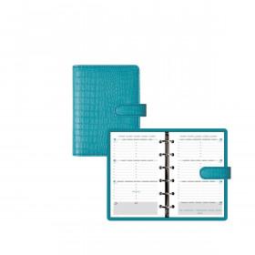 Organiseur EXACOMPTA Exatime 14 Baby-Croco - 140x100mm - Turquoise