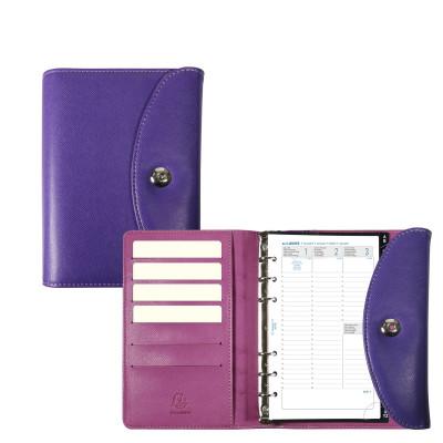Agenda organiseurs EXACOMPTA Exatime 17 light Philae violet - 190x135mm