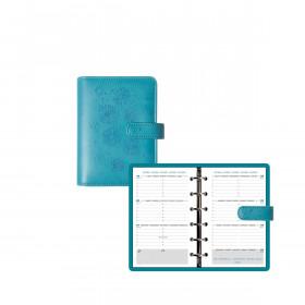 Organiseur EXACOMPTA Exatime 14 Flora turquoise - 140x100mm