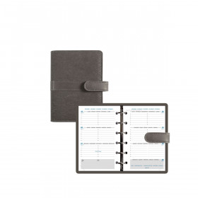 Agenda organiseur EXACOMPTA Exatime 14 Kelly anthracite - 140x100mm