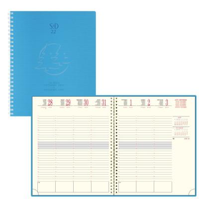 Agenda EXACOMPTA SAD 22W Linicolor spirale - 18,5x22,5cm - 1 semaine sur 2 pages  - BLEU FRESH