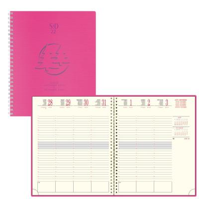 Agenda EXACOMPTA SAD 22W Linicolor spirale - 18,5x22,5cm - 1 semaine sur 2 pages - VIOLET