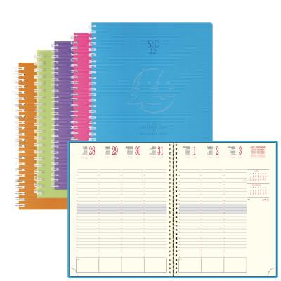 Agenda EXACOMPTA SAD 22W Linicolor spirale - 18,5x22,5cm - 1 semaine sur 2 pages (Couleurs aléatoires)