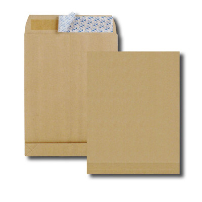 5x Enveloppes C4 229x324mm GPV - kraft marron - bande détachable