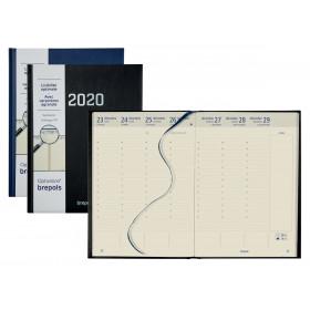 Agenda BREPOLS Optivision XL 21x27cm STARK - 1 semaine sur 2 pages Vertical (COLORIS ALEATOIRES)