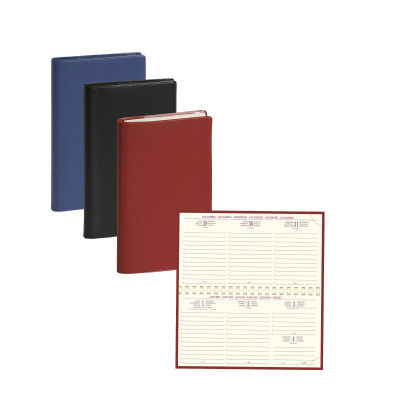 Agenda EXACOMPTA de poche Temporel 16S Cassandra - 160x90mm - 1 semaine sur 2 pages - spirale (COLORIS ALEATOIRES)