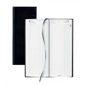 Agendas BREPOLS Long Noire Travers, échelle horaire 13 x 33 cm - 1 jour par page